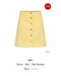 Snitsiga jeanskjolar från Only - Farrah - Skirt - 70%