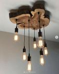 Tillverka lampor med trädetaljer!