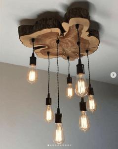 tillverka lampor med trä
