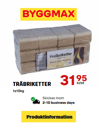 hemleverans av träbriketter