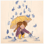 It raining cats and dogs
