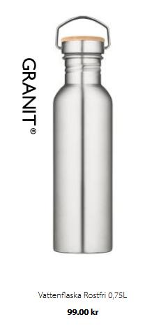 plastbanta flaska i rostfritt