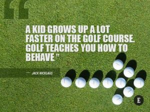 Growing up on the golf course