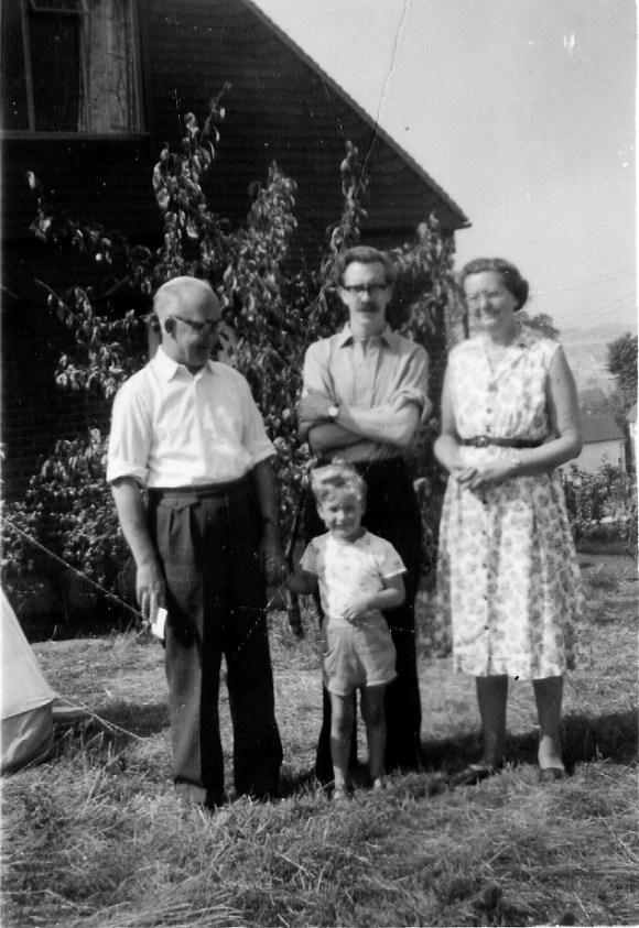 Grandad Fermer, Peter and Gus August 1959