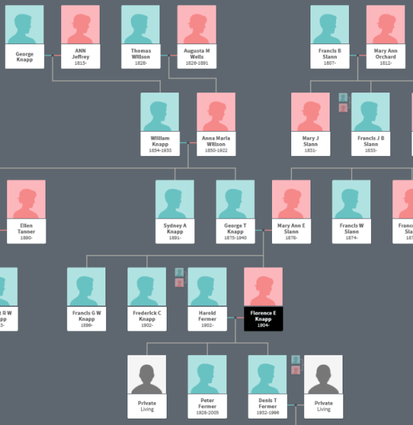 Extract from Val and Steve's Family Tree