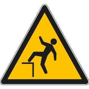 panneaux signalisation santé sécurité travail Chute avec dénivellation