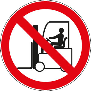 panneaux signalisation santé sécurité travail Interdit aux chariots