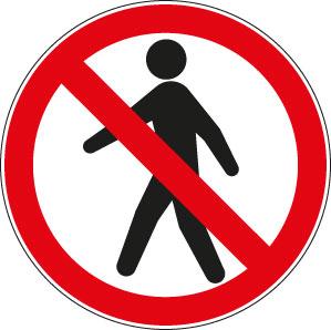 panneau ou autocollant interdit aux pi tons panneaux de signalisation s curit au travail. Black Bedroom Furniture Sets. Home Design Ideas