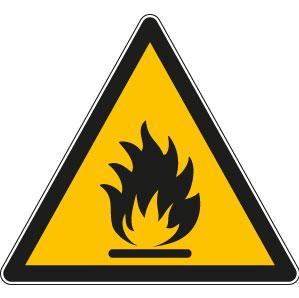 panneaux signalisation santé sécurité travail Matières inflammables ou haute température