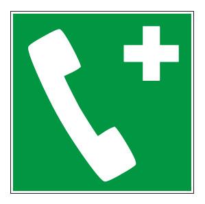 panneaux signalisation santé sécurité travail Téléphone d'urgence