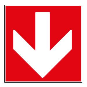 panneaux signalisation santé sécurité travail Directions à suivre : bas