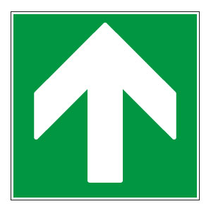 panneaux signalisation santé sécurité travail Directions à suivre : haut vert