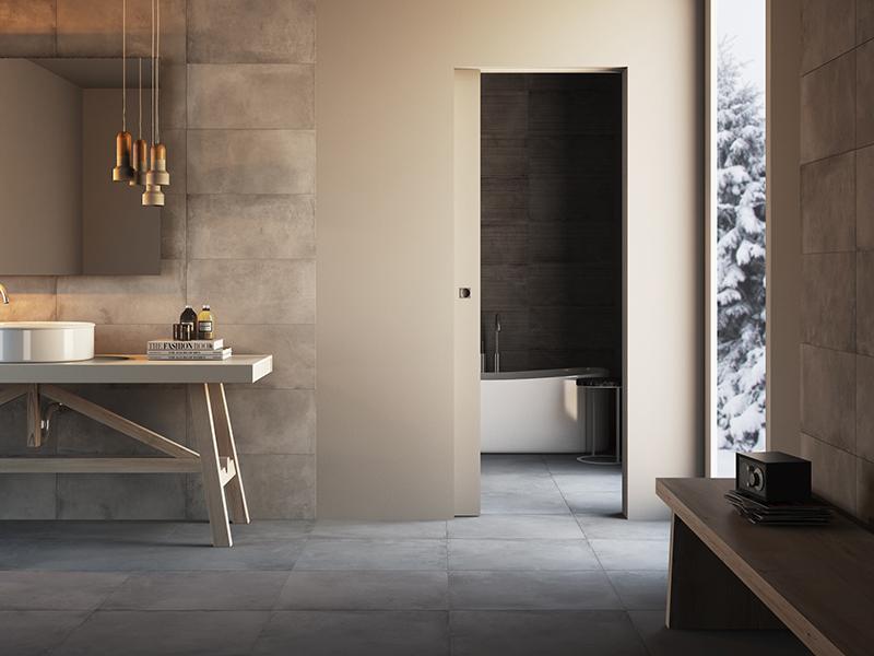Porte scorrevoli filomuro per il bagno vantaggi e modelli - Porte scorrevoli bagno ...