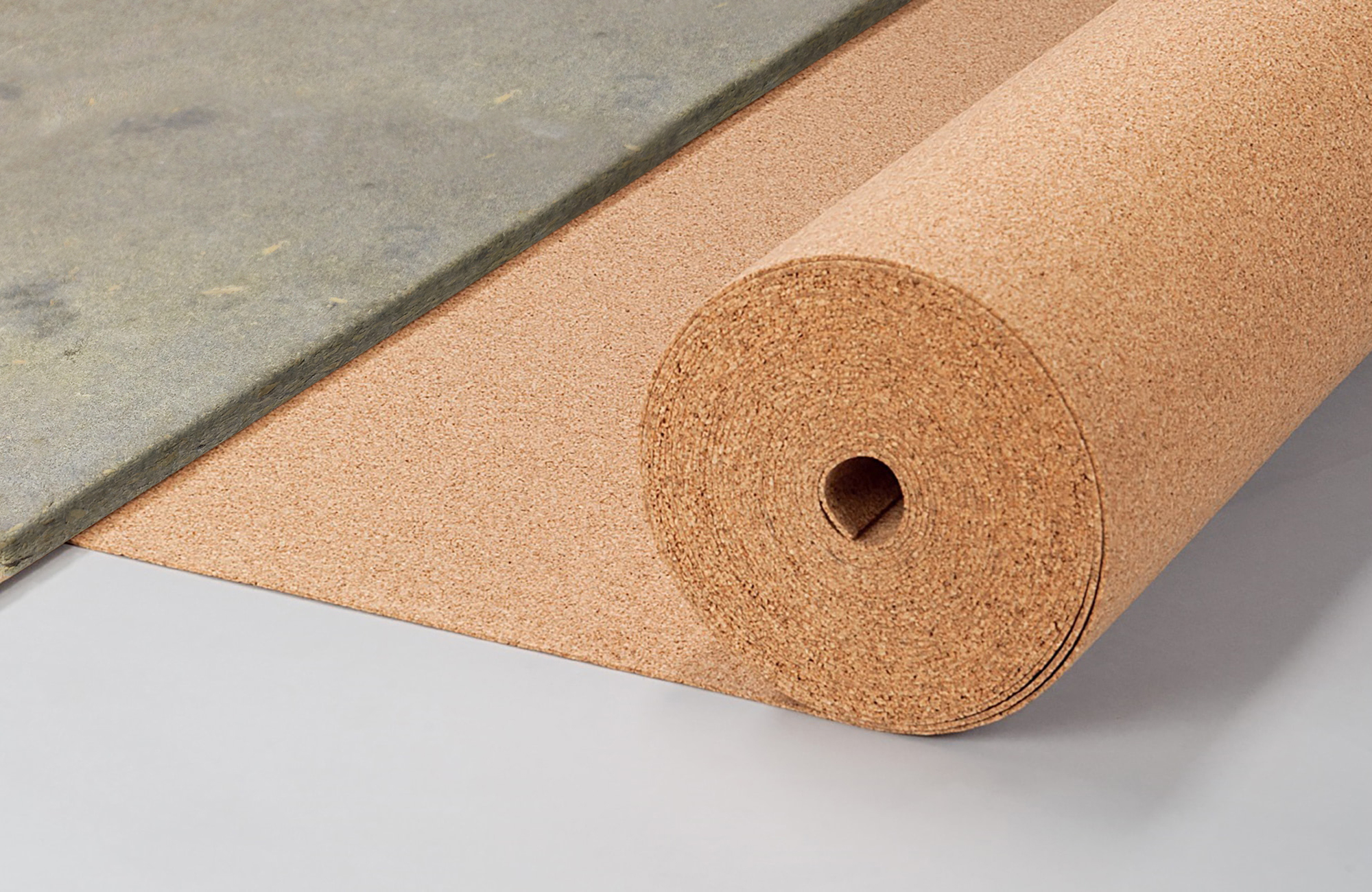 Rotolo isolante in sughero biondo posa betonwood