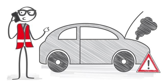Autopanne, Pannenhilfe und Unfallhilfe