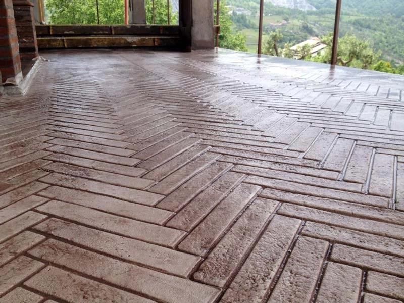 Il pavimento stampato  Hardenerpan