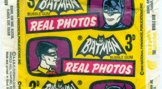 A&BC Batman Bat Laffs 1966 – Wrapper –  Gum Wax Paper plus cards –  #gumcards #batman #1960s