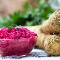 Fresh Horseradish Sauce with Beets