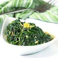 Sautéed Spinach and Garlic