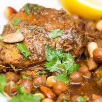 Slow Cooker Chicken Tagine with Apricots and Chickpeas