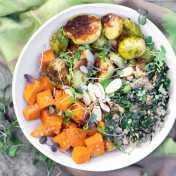 Sweet Potato Brussels Sprout Buddha Bowl