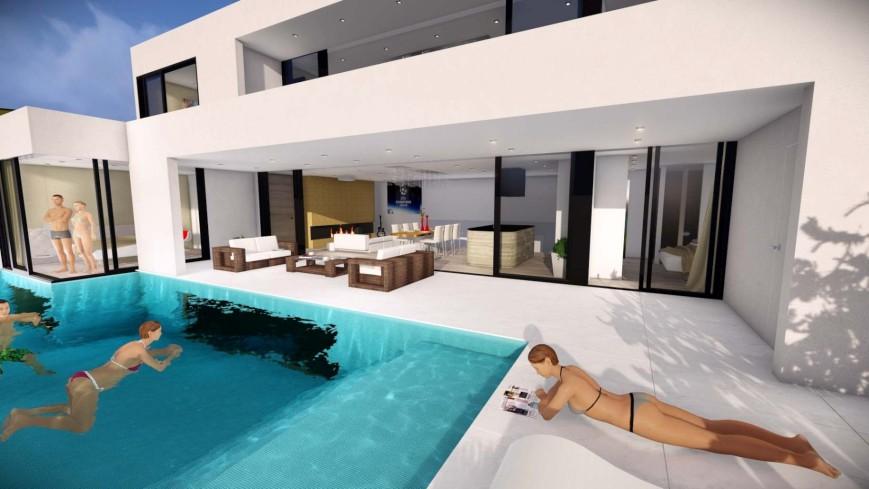 Insel Krk Kvarner Luxurises Appartement mit Pool