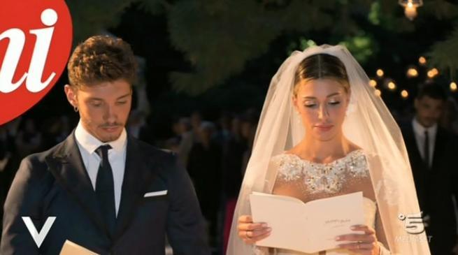 belen e stefano foto matrimonio
