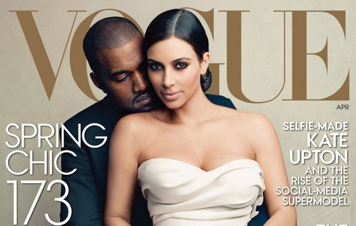vogue copertina Kim Kardashian e Kanye West
