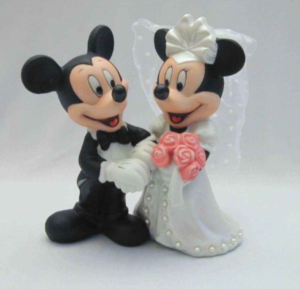 Favorito Cake topper sposi per matrimonio classico, country o Disney RW88