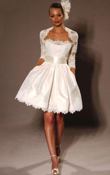 abito da sposa corto armani