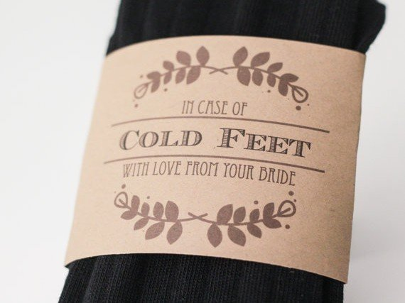 Regalo allo sposo, un paio di calze