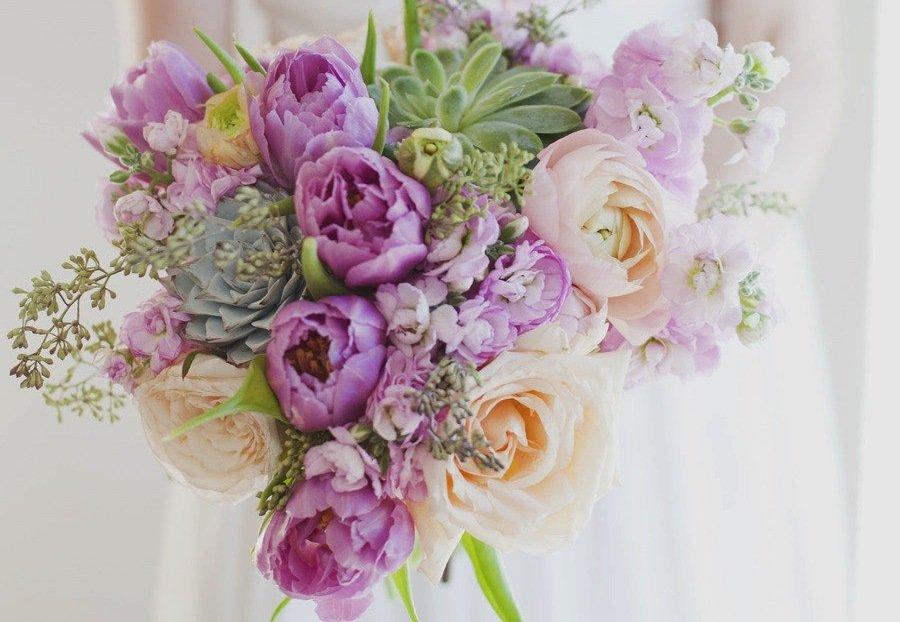 Un bellissimo bouquet dai colori pastello