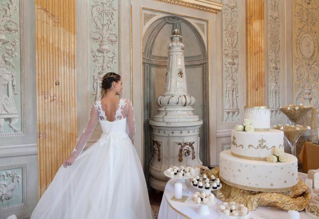 sposa torta villa litta