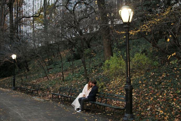 Gli sposi a Central Park