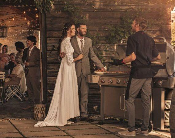 Barbecue matrimonio, sposi