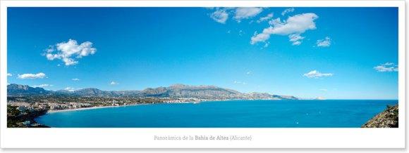 Panorámica de la bahía de Altea desde el camino del faro del Albir
