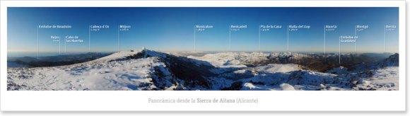 Panorámica desde la Sierra de Aitana