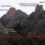 Croquis de la ruta de Carlos (K2Monty), cedido por Raúl Vicedo