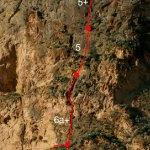Croquis de la vía Botri 2 en Redovan
