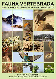 "Portada del libro ""Fauna vertebrada del Paisaje protegido Serra del Maigmó y Serra del Sit"""