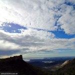 Día nuboso pero muy claro