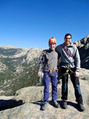 Mis compañeros de escalada Sergio y Miguel