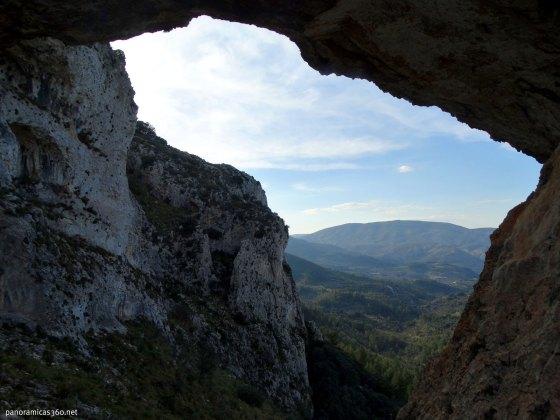 Valle de Castell de Castells desde Els Arcs