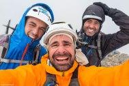 Servidor, Javi y óscar en la cumbre del pico de La Paul