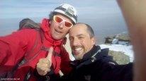 Sento y yo en la cumbre del Buitre de Sierra Nevada