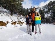 Pau, Berta y yo durante la excursión