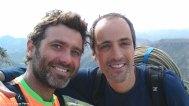 Óscar y yo después de escalar la vía