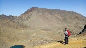 Mulhacén y laguna de la Caldera desde la Punta de Loma Pelada