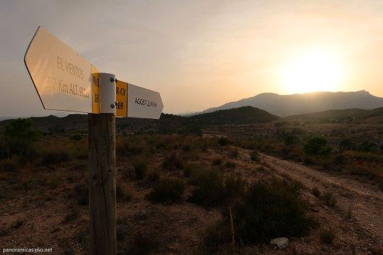 Atardecer en la sierra del Ventós (Agost)