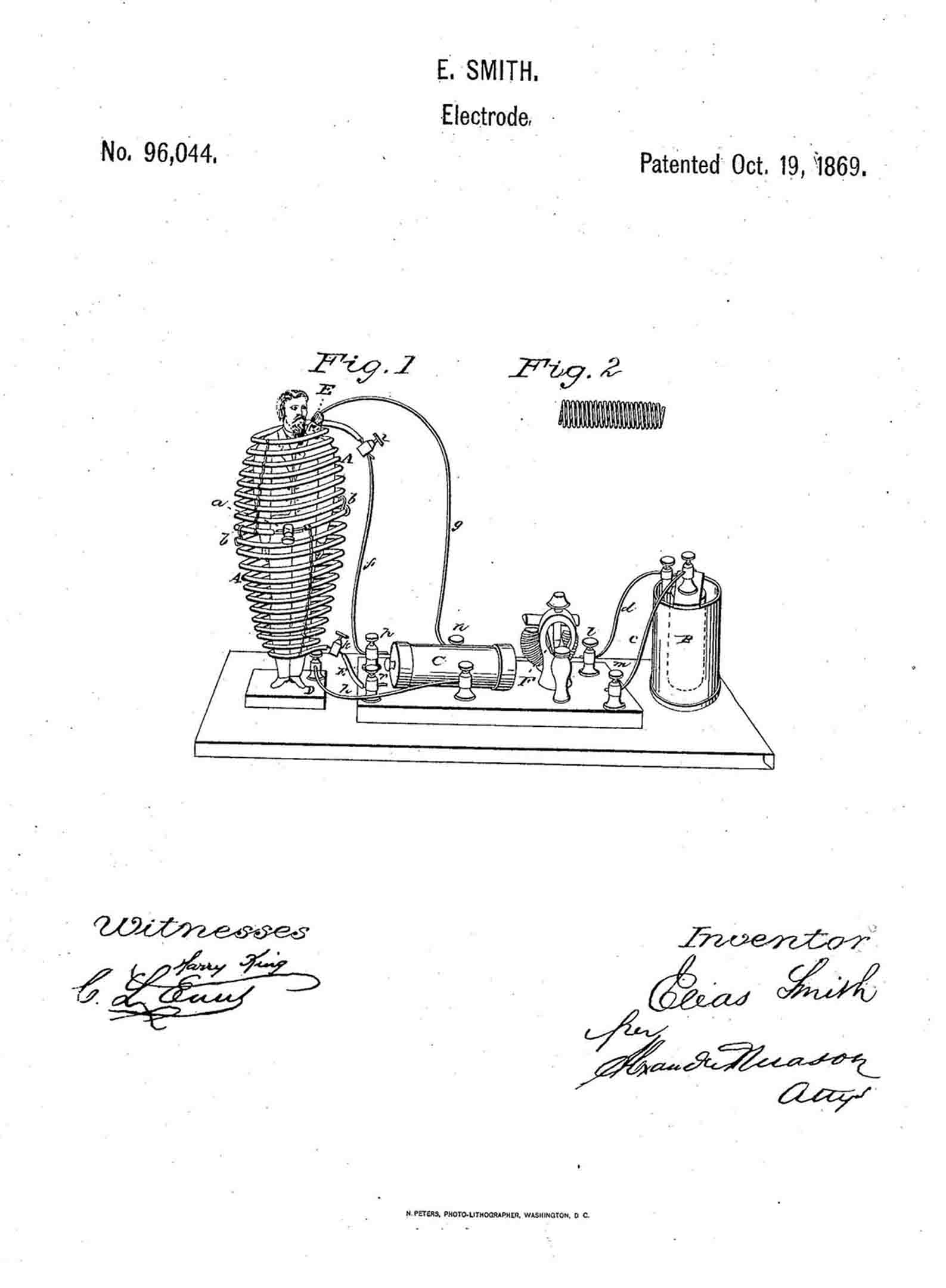 The Elias Smith October 19, 1869 Patent